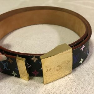 💯 authentic LV multi color murakami belt